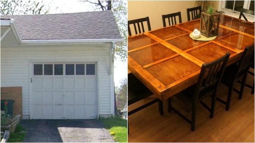 Come riciclare una vecchia porta di legno e realizzare un tavolo di design - Costruire tavolo in legno ...