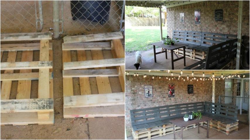 Come arredare una veranda con i pallet un riciclo for Riciclare oggetti per arredare