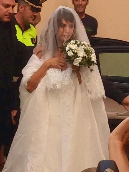 Al Matrimonio In Nero : L abito da sposa di elisabetta canalis