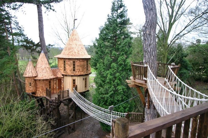 Blue forest la casa sull 39 albero pi lussuosa del mondo for Case particolari nel mondo