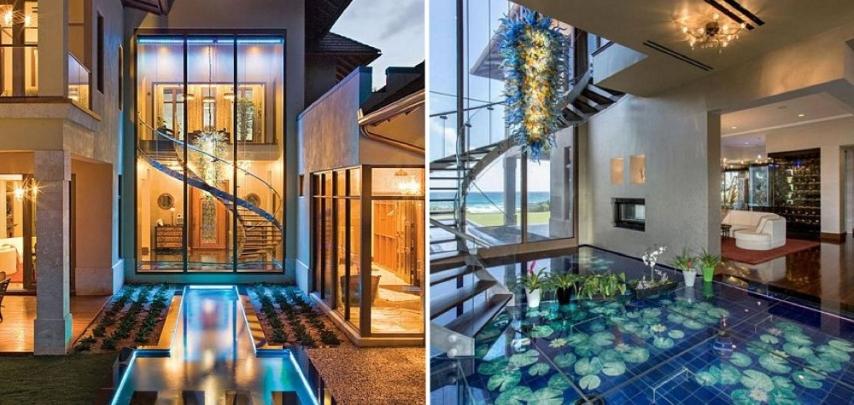 Vivere sott 39 acqua nella casa di lusso che sembra un acquario for Acquario in casa