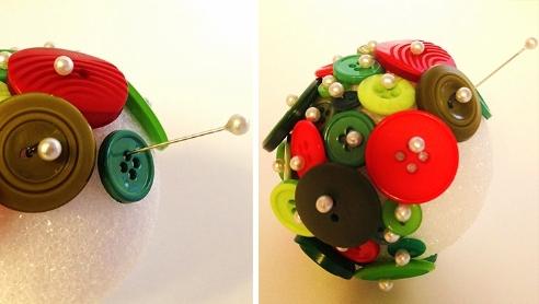 Come creare decorazioni natalizie con i bottoni - Creare decorazioni natalizie ...