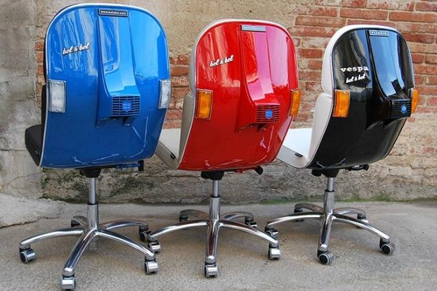 Sedie Da Ufficio Moderne : Le vecchie vespe diventano moderne sedie da ufficio