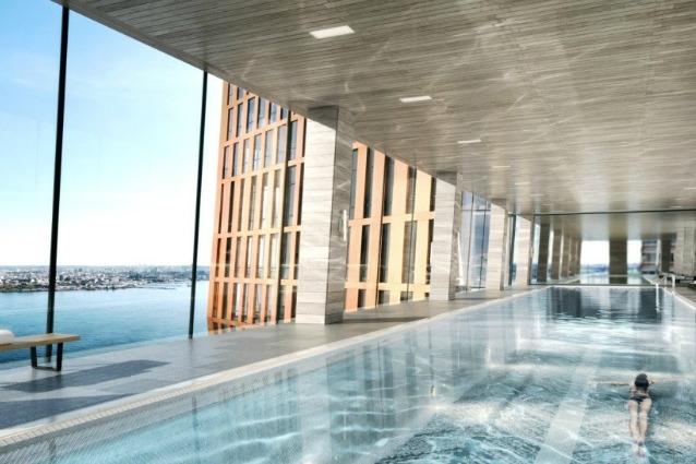 Piscina a sfioro sul tetto e vista mozzafiato ecco i nuovi grattacieli di new york - Piscina da interno ...