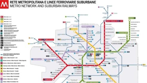 Milan Subway Map.Metro Cadorna Lotto