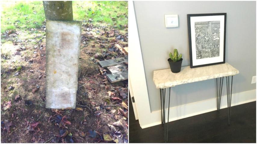 Tavolini Da Salotto Di Marmo : Come trasformare una vecchia lastra di marmo in un grazioso