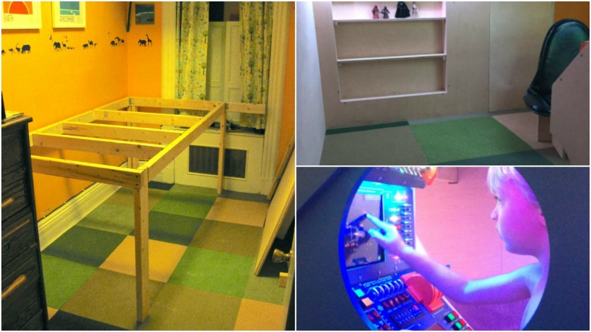 Costruire Un Letto Per Bambini : Come costruire un letto a soppalco fai da te a forma di navicella