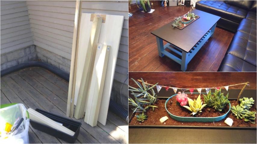 Come costruire un originale tavolino da salotto un for Costruire tartarughiera in vetro