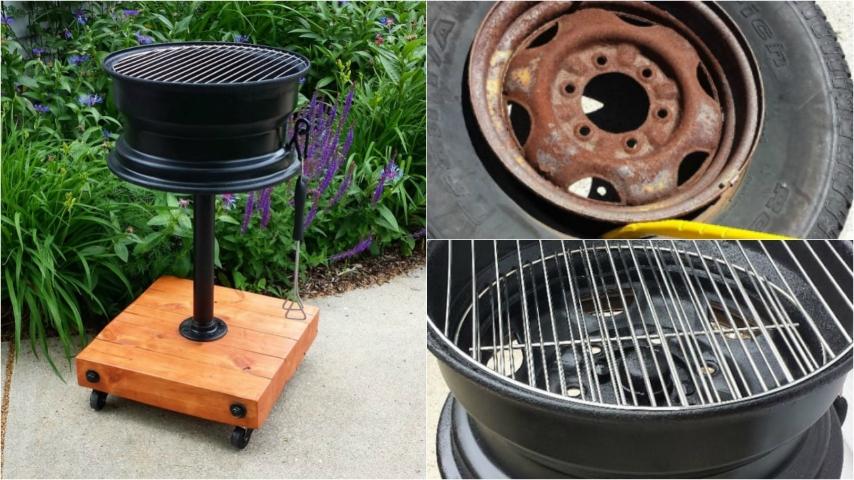 Come riciclare vecchi cerchioni per costruire un originale barbecue fai da te - Barbecue in casa ...