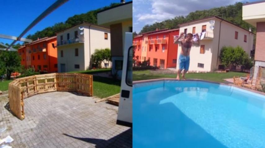 Come costruire una bellissima piscina da giardino con dei pellet in legno - Costruire casa da soli ...