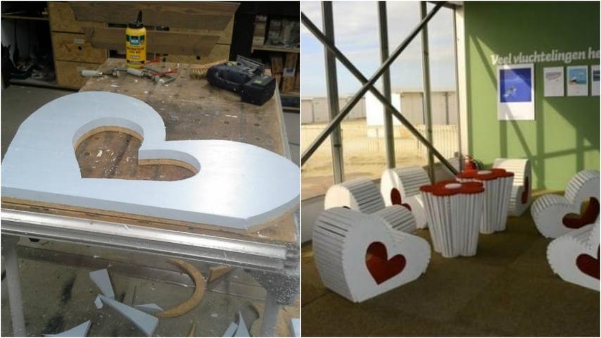 Come costruire una sedia in legno a forma di cuore un originale