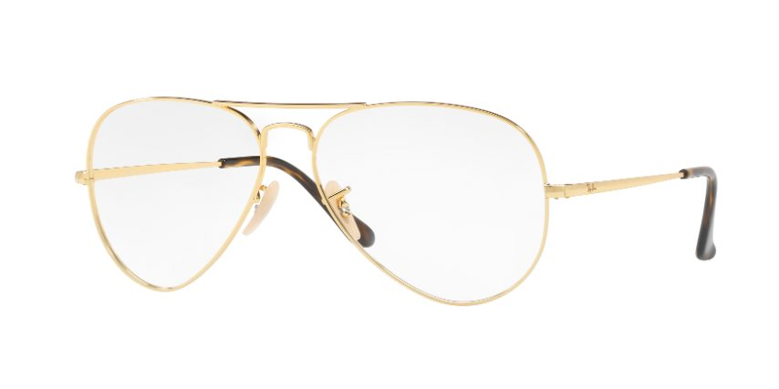 occhiali da vista a goccia oro ray ban