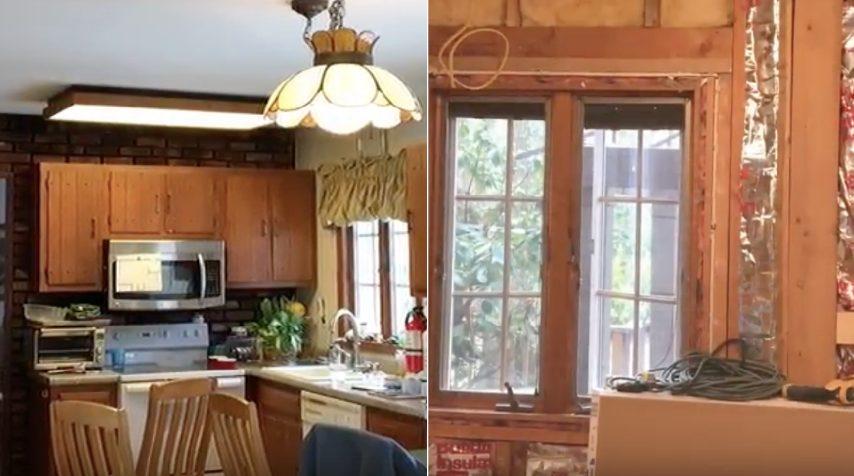 Da solo, rinnova la sua vecchia cucina: la trasformazione è ...