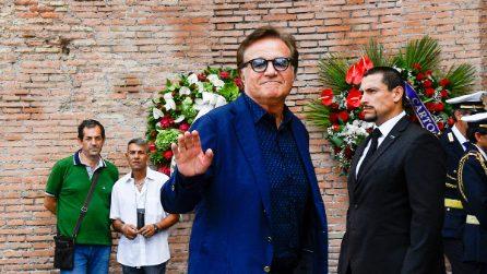 Le foto dei funerali di Carlo Vanzina in piazza della Repubblica a Roma