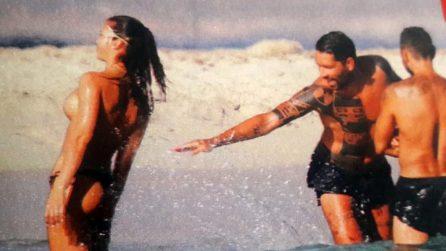 Marco Borriello in vacanza a Ibiza con le amiche modelle