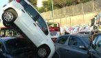 Rocambolesco incidente su via Portuense a Roma