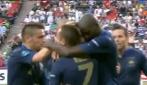 Il gol dell'1-1 di Nasri in Francia-Inghilterra