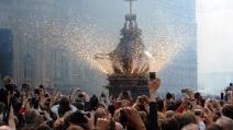 Pasqua a Firenze, anche Renzi al tradizionale scoppio del carro