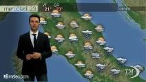 Previsioni meteo per mercoledì, 23 aprile