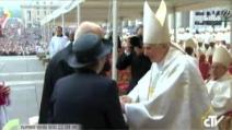 Il saluto di Giorgio Napolitano a Benedetto XVI