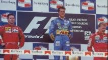 San Marino 1994 - Il podio dopo la tragedia della morte di Ayrton Senna