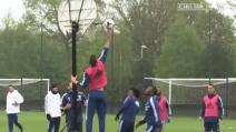 Partita a basket durante l'allenamento del Chelsea