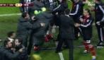 Juventus-Benfica, la rissa tra Vucinic e Artur con espulsione dello juventino