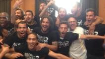 """""""I campioni dell'Italia siamo noi"""", la festa dei giocatori juventini"""