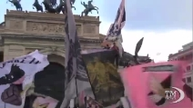 Palermo promosso in A, in festa i tifosi