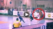 Liga Futsal 2014, incredibile gol di petto di Falcão