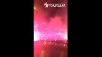 Tifosi del Real in festa per le strade di Madrid