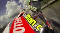 Andrea Iannone guida la sua Pramac durante i test al Mugello