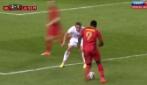 Lukaku si trasforma in Ronaldo: doppio passo e gol contro il Lussemburgo