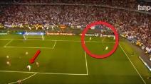 Cristiano Ronaldo non esulta al gol di Sergio Ramos contro l'Atletico