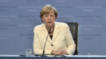 """Europee, Merkel: """"La Germania vuole la crescita della Francia"""""""