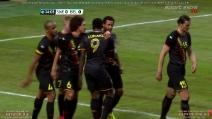 Il bel gol di Lukaku contro la Svezia in amichevole