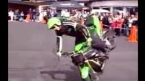 Impennate da urlo a bordo di una Kawasaki