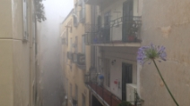 Bomba d'acqua a Napoli, danni ed allagamenti