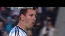 Messi vomita in Slovenia-Argentina
