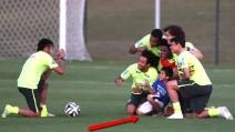 Brasile, Neymar realizza il sogno di un bambino