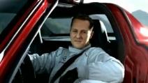 La spettacolare presentazione della Mercedes SLS di Michael Schumacher