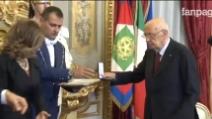 Napolitano consegna i premi Eni award 2014