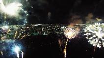 Florida, fuochi d'artificio ripresi con un drone