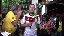 Mondiali, tifoso brasiliano insulta cronista filotedesco in diretta tv
