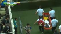 Mondiali, Neymar si infortuna ed esce in lacrime