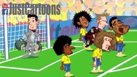 Il Brasile piange, la Germania segna a valanga