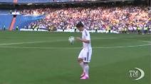 Tifosi in delirio alla presentazione al Real Madrid di James Rodriguez