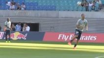 Ibrahimovic già incanta durante il riscaldamento