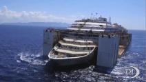 Il viaggio della Costa Concordia visto dall'alto