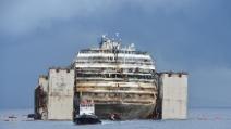 Concordia: l'arrivo a Genova in 48 secondi